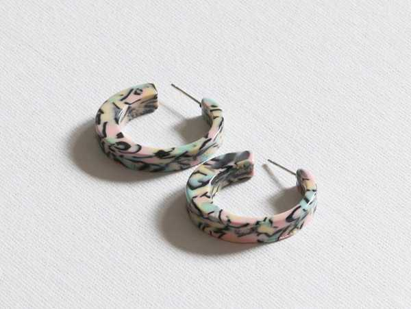 CHUNKY PASTEL HOOP EARRINGS